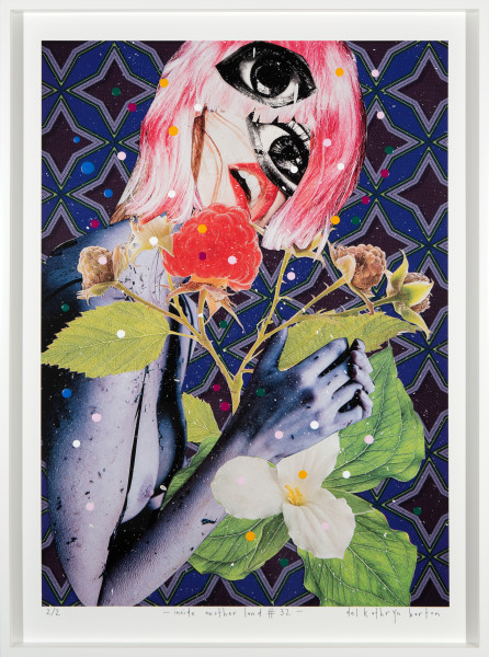 Del Kathryn Barton inside another land #32, 2016; acrylic and archival pigment ink on rag; 96 x 70 cm; (framed) Image size:  90  x 64cm; Edition of 2 + 2 A/Ps; enquire