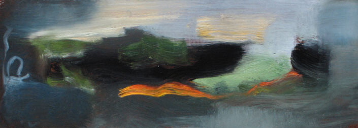 Louise Hearman Untitled #1189, 2005; oil on masonite; 13 x 34 cm; enquire