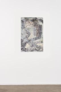 installation view; Nyapanyapa Yunupingu Djulpan, 2021; 224-21; natural earth pigments on paper; 109 x 72.5 cm; enquire