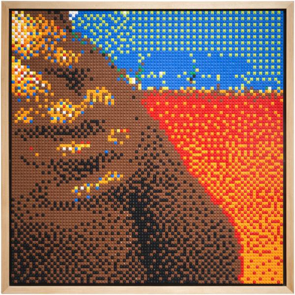 Claire Healy and Sean Cordeiro Alslev, 2014; Lego; 77 x 77 x 7.5 cm; enquire