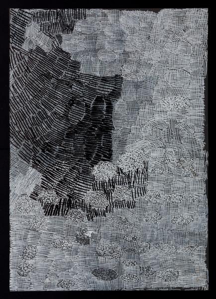 Nyapanyapa Yunupingu untitled, 2018; 5715-18; paint pen on clear acetate; 84 x 60 cm; enquire