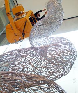 Bronwyn Oliver Vine (detail), 2005; aluminium; 16.5 x 2.8 x 2.8 cm; enquire