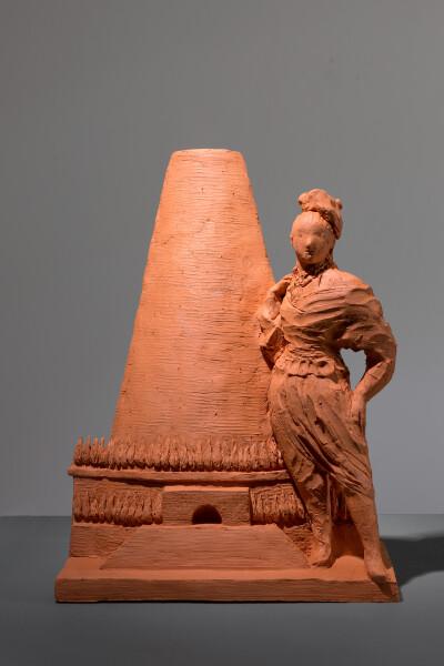 Linda Marrinon Boullee cenotaph, 2017; terracotta; 33 x 25 x 13 cm; enquire