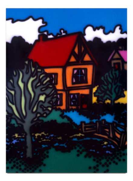 Howard Arkley English Style, 1987; acrylic paint on canvas; 160 x 122 cm; enquire