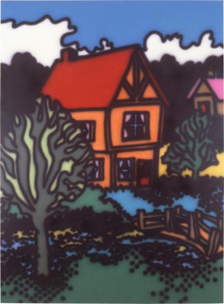 Howard Arkley English Style, 1987; acrylic paint on canvas; 160 x 122 cm; enquire