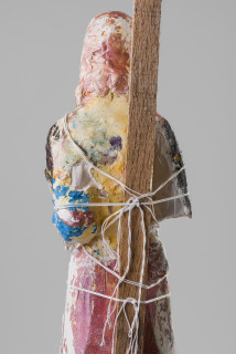 Linda Marrinon Joan of Arc (detail), 2020; plaster, cord, wood; 75 x 17 x 16 cm; enquire