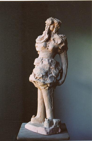 Linda Marrinon Girl in Bubble Dress, 2006; tinted plaster; 60 x 30 x 30 cm; enquire
