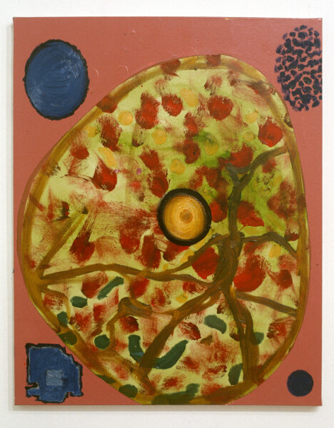 Gareth Sansom Bases, 1990; mixed media on cotton duck; 76 x 61 cm; enquire