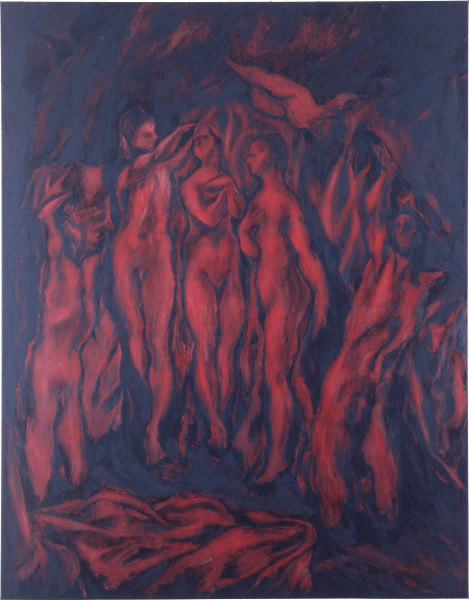 Lindy Lee Untitled, 1987; oil on canvas; 213 x 168 cm; enquire