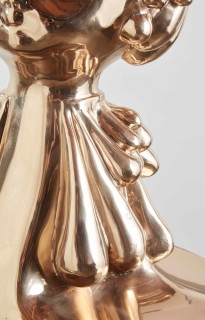 Del Kathryn Barton the infinite adjustment of the throat...and then, a smile (detail), 2019; bronze and hand finished plinth, acrylic, MDF; sculpture: 120 x 50 x 50 cm, 128.76kg; plinth: 70 x 50 x 50 cm; Edition 3 + 2 A/Ps; enquire