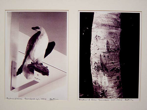 Destiny Deacon Postcard from Yarrabah (1) (2), 1998; 2 black & white laser prints; 29.7 x 21 cm; Edition of 15; enquire