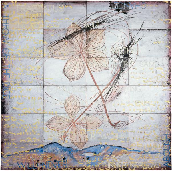 Imants Tillers Tractatus 3 , 2009; acrylic, gouache on 24 canvasboards, no. 85357 - 85380; 153 x 153 cm; enquire