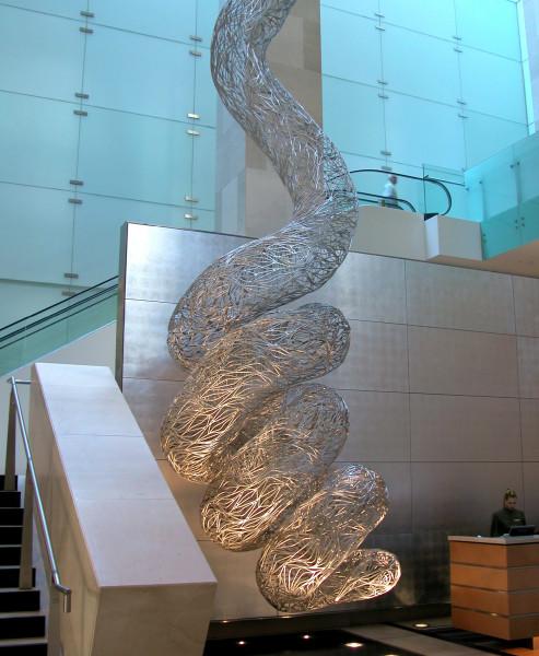 Bronwyn Oliver Vine, 2005; aluminium; 16.5 x 2.8 x 2.8 cm; enquire