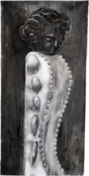 Tony Clark Design for a Portrait Jewel (P.), 2015; acrylic on canvas; 163 x 80 cm; enquire