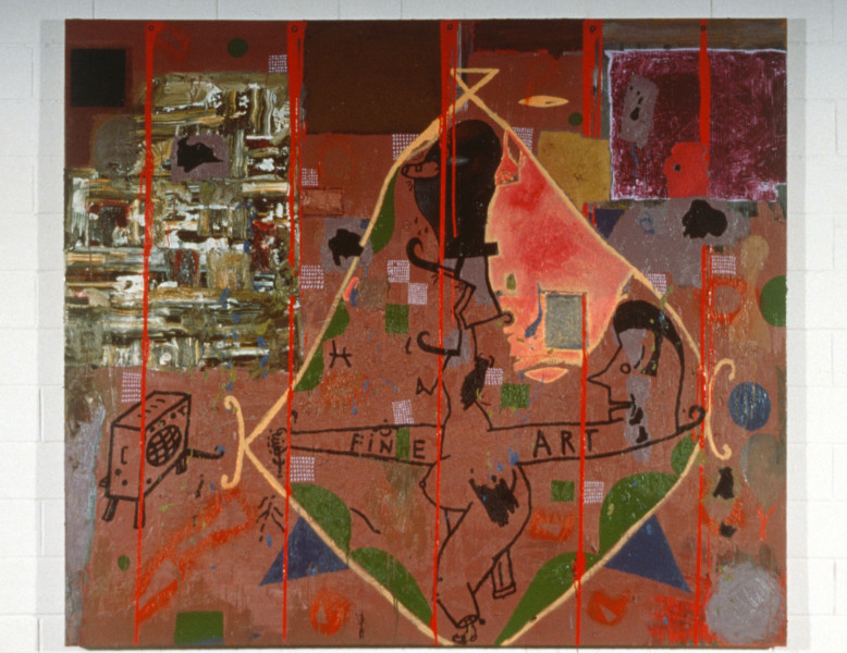 Gareth Sansom Fine Art, 1987; oil on canvas; 137 x 137 cm; enquire