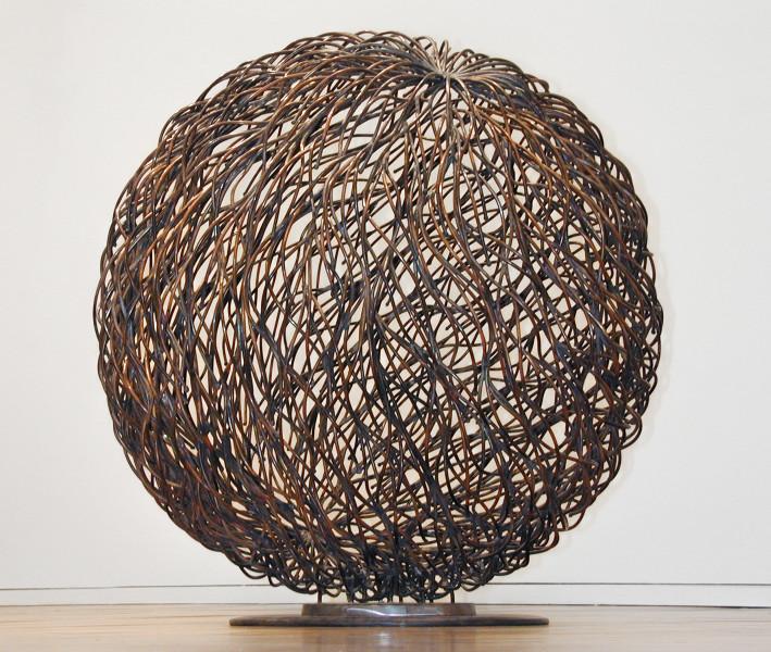 Bronwyn Oliver Flow, 2002; copper; 80cm diameter; enquire