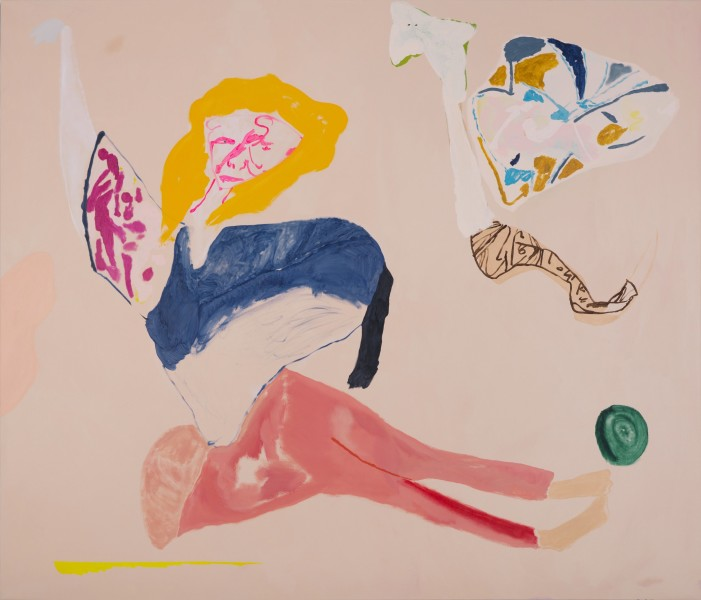 Tom Polo Liar Liar Lying Down Dropped Mask Slow Coach, 2017; acrylic and Flashe on canvas; 214 x 183 cm; enquire