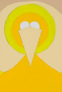 Mikala Dwyer Vertical Bird (detail), 2021; acrylic on canvas; 91 x 60.5 cm; enquire
