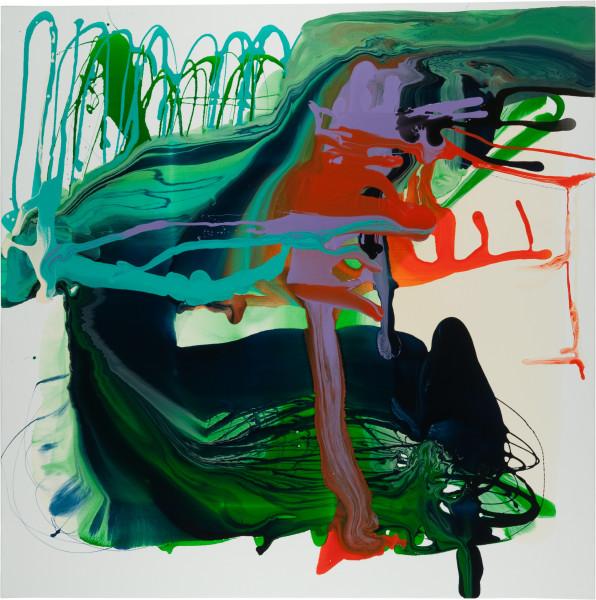 Dale Frank Cussonia Spicata Steven Stroke, 2011; varnish on canvas; 200 x 200 cm; Enquire