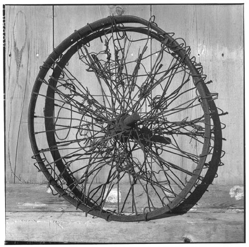 Bill Culbert Bike wheel with wire, 2002; Edition of 25; enquire
