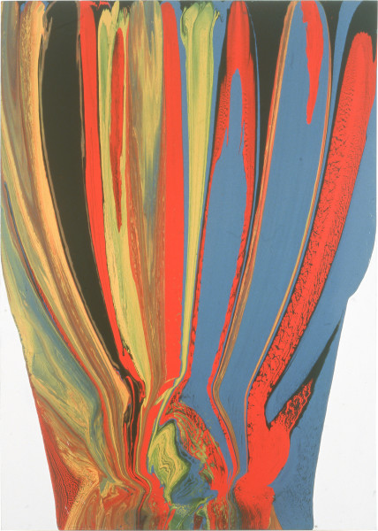 Dale Frank The Fall of Pointless Intercourse (The Warped Canvas), 1992; enamel on canvas; 280 x 200 cm; enquire