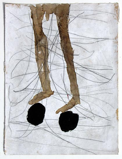 Newell Harry Untitled, 2006; gesso and oil stick on ironed Fabriano paper; 38 x 28 cm; enquire