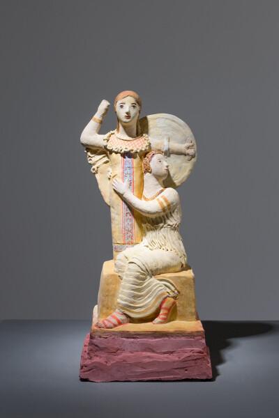 Linda Marrinon Reconstruction of 3rd century B.C. Greek statue, 2017; terracotta; 32 x 14 x 12 cm; enquire