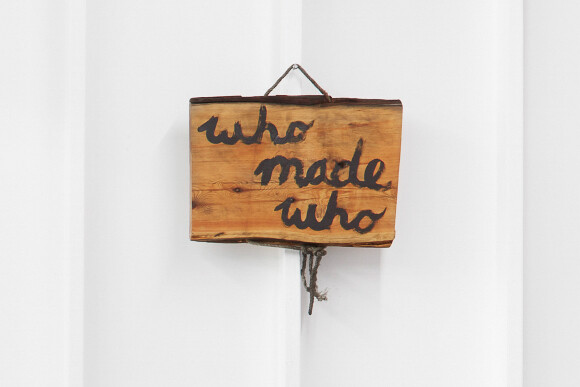 Nell Who Made Who - Han (from Chanting to Amps), 2012; Tasmanian wood, rope, paint; enquire