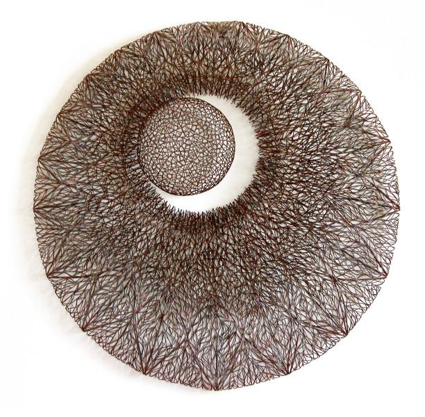 Bronwyn Oliver Moon, 2005; copper; 86 x 86 x 12 cm; enquire