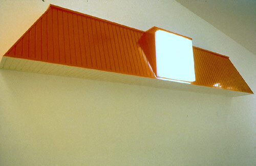 Callum Morton Convenience, 1996-97; wood, laminate, acrylic, vinyl; 80 x 480 x 50 cm; enquire