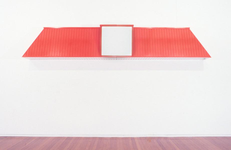Callum Morton Convenience, 1996-97; wood, laminate, acrylic, vinyl; 80 x 480 x 50 cm; enquire