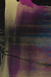 Dale Frank Orange Walk (detail), 2021; colour pigment in Easycast, Epoxyglass, on Perspex; 160 x 120 cm; enquire