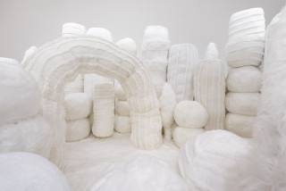Kathy Temin Mothering Garden (detail), 2021; synthetic fur, synthetic filling; 250 x 700 x 300 cm; enquire