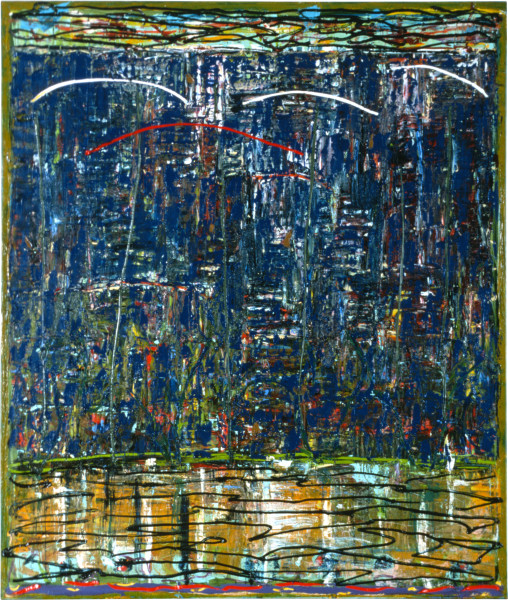 Michael Johnson Marri, 1986; oil on linen; 210 x 180 cm; enquire