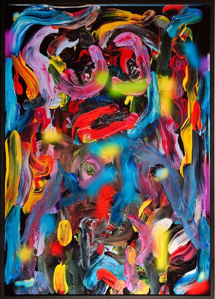 TV Moore Blotter Stars and Lights, 2012; unique c-print, painted frame; 171 x 124 cm; enquire