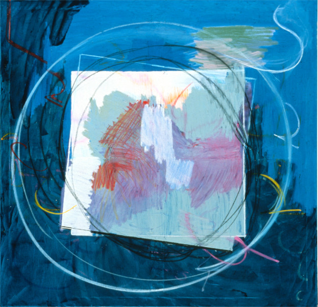Denise Green Louis' Love, 1985; oil, paint stick on canvas; 178 x 172 cm; enquire