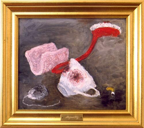 Fiona Hall Arguably, 1996; oil on canvas; 24 x 29 cm; framed size; enquire