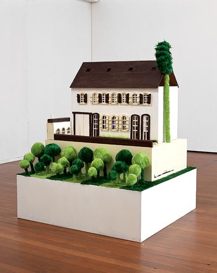 Kathy Temin My Chateau: Moet & Chandon House, 1999-00; wood, paint, wallpaper, synthetic fur, carpet, felt, lace, mirror, ceramic, plastic, polystyrene and balloons; 166 x 130 x 120 cm; enquire