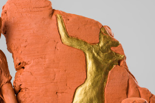 Linda Marrinon Scene at Edfu (detail), 2020; terracotta; 29 x 31 x 16 cm; enquire