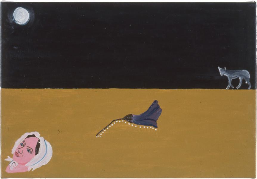 Fiona Foley Thoorgine Country III, 1991; oil on canvas; 26 x 38.5 cm; enquire