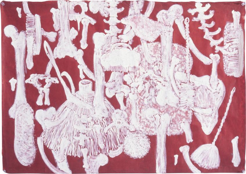 Fiona Hall Insolvent, 1997; gouache on Daphne paper; 56 x 80 cm; enquire