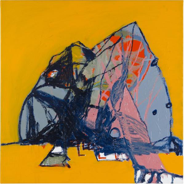 Gareth Sansom Floating landscape, 2012; oil and enamel on linen; 60 x 60 cm; enquire