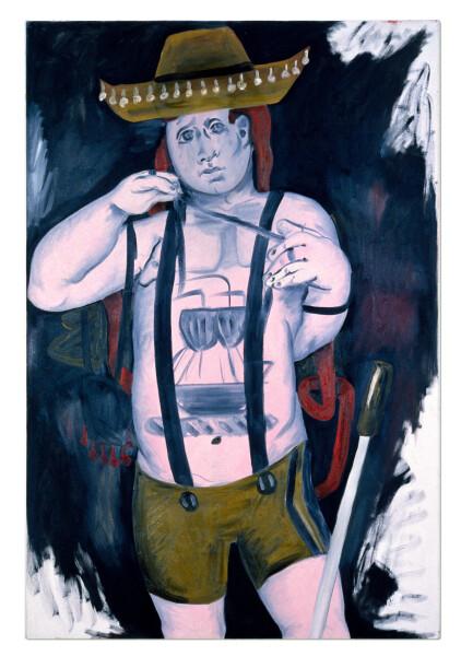 Linda Marrinon Petulant & Pink, 1990; oil on canvas; 137 x 91 cm; enquire