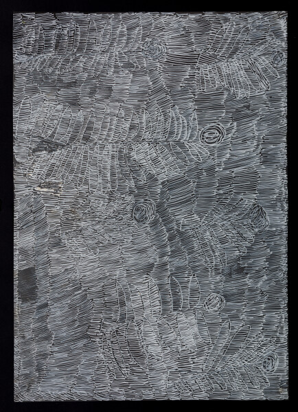 Nyapanyapa Yunupingu untitled, 2018; 5330-18; paint pen on clear acetate; 84 x 60 cm; enquire