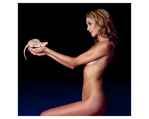 Patricia Piccinini Subset - Blue Body, 1997; from the series Protein Lattice; type C colour photograph; 80 x 80 cm; Edition of 6; enquire