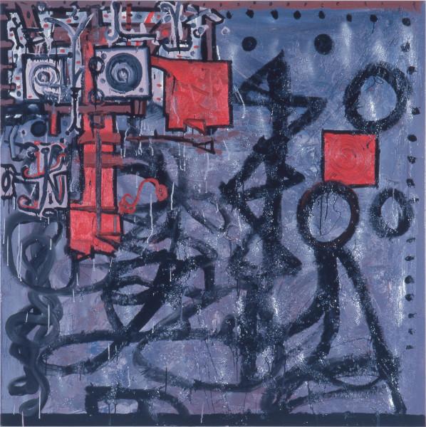 Gareth Sansom Untitled, 1987; oil on canvas; 137 x 137 cm; enquire