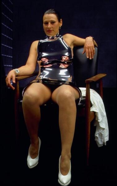 Julie Rrap Window Dresser # 2 (Sharon), 2000; photograph mounted on lexcen; 195 x 122 cm; Edition of 9; enquire