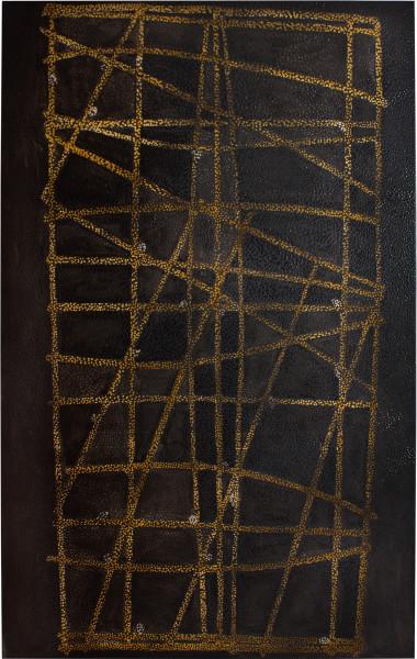 Daniel Boyd Untitled (MINC), 2012; oil and archival glue on canvas; 256.5 x 162.5 cm; enquire