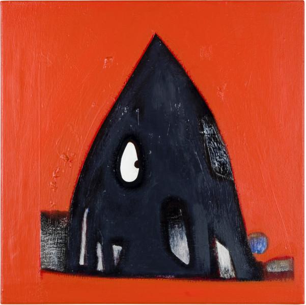 Gareth Sansom Tent head, 2011; oil and enamel on linen; 61 x 61 cm; enquire