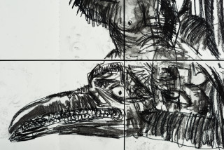 Pierre Mukeba (Slide) (detail), 2021; charcoal and pastel on archival paper; 90 x 126 cm; enquire